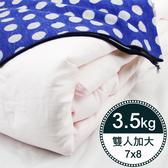 【岱妮蠶絲】BY35991天然特級100%長纖桑蠶絲被-3.5kg (雙人加大7x8)