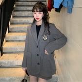 ~~~ 西裝毛呢套裝女時尚學院風減齡外套純色短裙潮 雅楓居