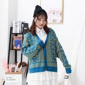 開襟長袖時尚寬鬆百搭秋季毛衣外套mandyc衣間