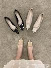 尖頭鞋 單鞋女2021年春季新款春款中跟百搭工作春秋尖頭夏季黑色粗跟鞋夏【618 購物】