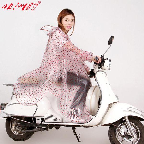 非洲豹摩托車電瓶車雨衣電動車成人單人女透明大帽檐加大加厚雨披【喜迎盛夏好康爆賣】