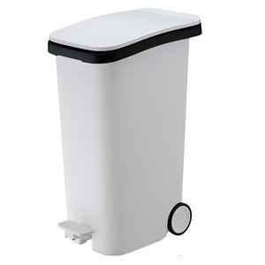 【日本 RISU】Smooth踩踏式緩衝靜音垃圾桶 31L-白色