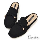 訂製鞋 小金飾綁結方頭穆勒鞋-艾莉莎ALISA【2588021】黑色下單區