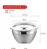 攪拌盆 廚房用油鼓不銹鋼油盆油缸商用油桶攪拌盆調料盆家用調味盅和面盆 城市科技