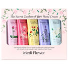韓國 Medi Flower 秘密花園護手霜禮盒(粉盒50g x 5入)【小三美日】
