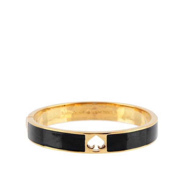 【KATE SPADE】鏤空桃心琺瑯手環(黑色) O0RU0642 BLACK