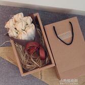 生日禮物女生閨蜜送女友浪漫玫瑰香皂花束禮盒diy韓國創意聖誕節『艾莎嚴選』