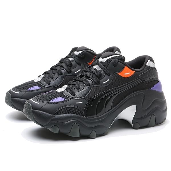 PUMA 休閒鞋 PULSAR WEDGE TECH GLAM 黑紫 蔡依林同款 女 (布魯克林) 37393902