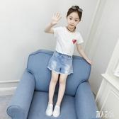 女童短袖t恤2020新款夏裝洋氣韓版兒童半袖小女孩上衣白色童裝潮 LR20573『麗人雅苑』