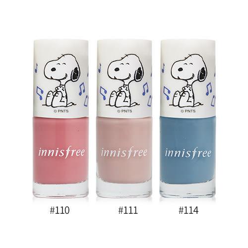 韓國 Innisfree x Snoopy 史努比 聯名限定版 彩色指甲油 6ml【BG Shop】3款供選