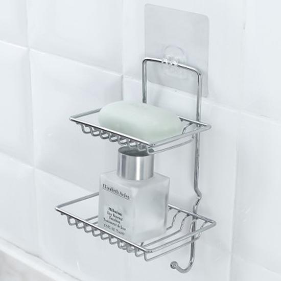 瀝水架 香皂盒 掛架 香皂架 置物架 掛勾 無痕背膠 收納架 掛鈎 鐵藝 壁掛肥皂架【J080】慢思行