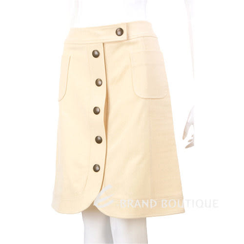 MOSCHINO 米黃色排釦及膝裙 0510643-65
