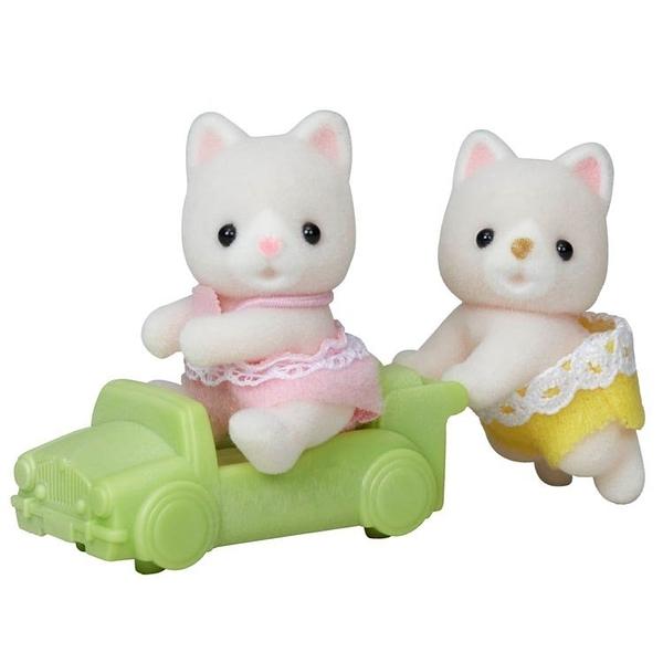 《森林家族-日版》牛奶貓雙胞胎(新)  / JOYBUS玩具百貨