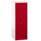 【藝匠】紅色 (大)四抽細縫櫃 收納櫃 家具 組合櫃 廚具 收藏  置物櫃 櫃子 小櫃子