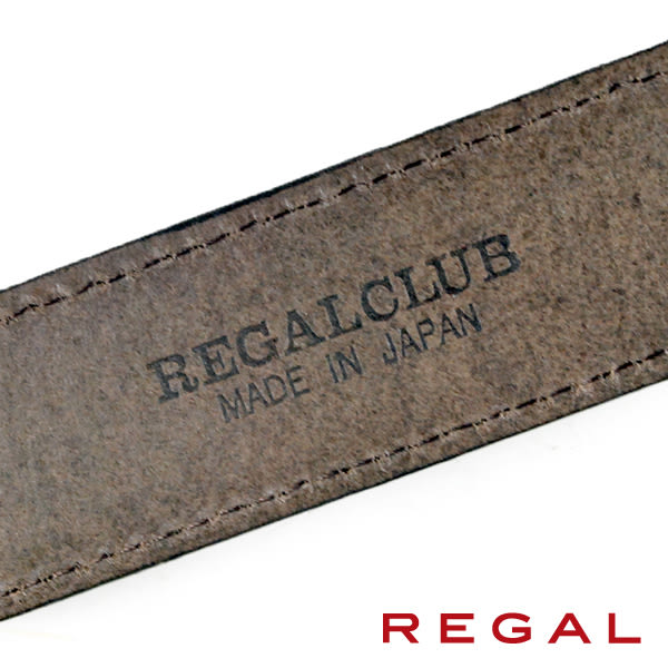 【REGAL】基本款紳士皮帶/扣環x2 深咖(ZR050-DBR)