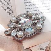 Ann'S愛的誓言珍珠鑽扣鞋扣品牌訂製鞋夾配飾