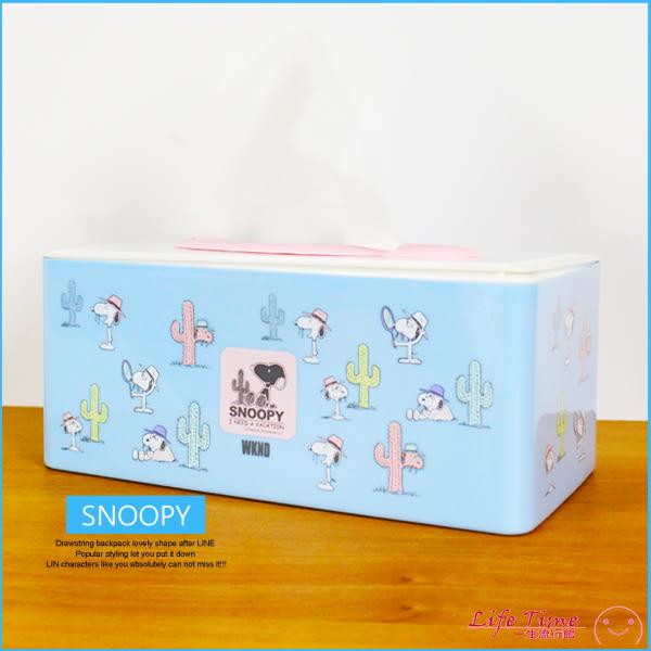 〖LifeTime〗﹝史努比塑膠面紙盒﹞正版衛生紙盒 面紙套 收納盒 SNOOPY B01133