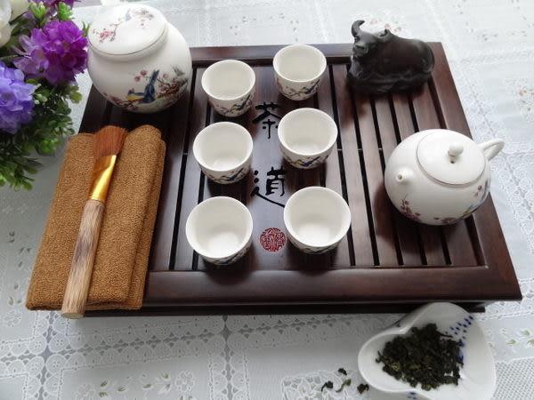 瓷工坊/青瓷/漢唐黑檀木茶盤