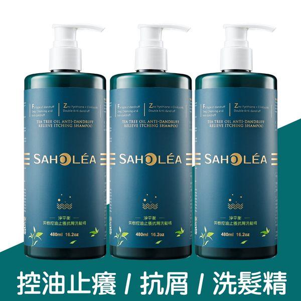 【新品上市】SAHOLEA森歐黎漾 淨平衡茶樹控油止癢抗屑洗髮精3入組(480mlx3)