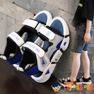 男童涼鞋女童夏季中大童軟底防滑小童寶寶鞋子【淘嘟嘟】