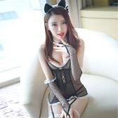 女僕套裝  性感貓女郎鏤空修身馬甲兔女情趣內衣制服套裝角色扮演透視女僕 霓裳細軟
