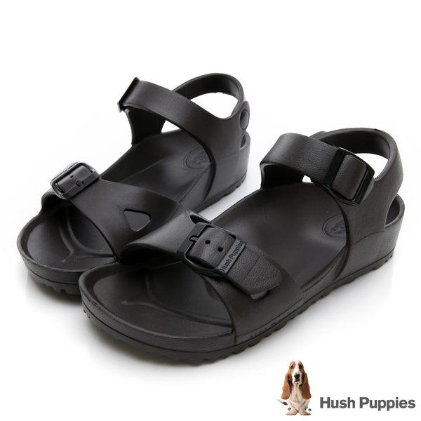 Hush Puppies 巴吉度輕量休閒繫帶涼鞋-可可色