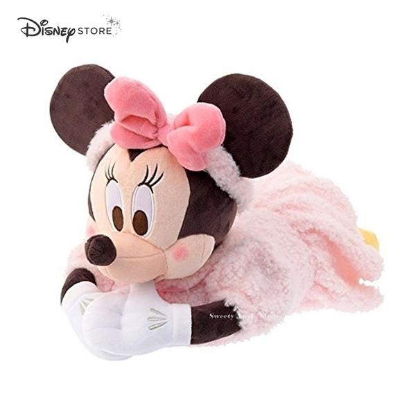 日本限定 DISNEY STORE 迪士尼商店 米妮 趴姿 玩偶 絨毛 面紙套