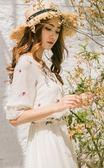 【年終大促】雪紡連身裙女裝2018夏季新款民族風刺繡收腰度假長裙超仙顯瘦裙子