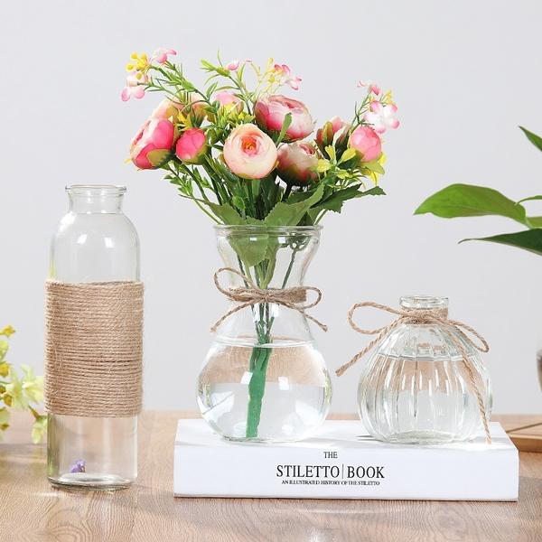 【BlueCat】風信子南瓜透明玻璃瓶 花瓶 落地花瓶 花器 花盆 水培容器 插花 乾花 空瓶