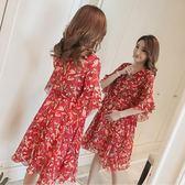 米蘭 孕婦夏裝洋裝2019新款時尚款夏天仙女超仙雪紡裙子寬鬆上衣潮媽