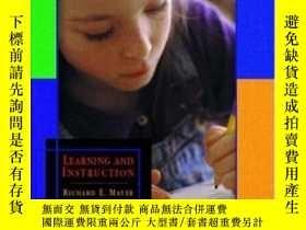 二手書博民逛書店Learning罕見And InstructionY364682 Richard E. Mayer Prent