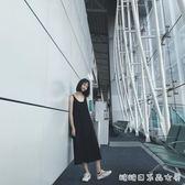 自制吊帶背心女百搭外穿內搭寬鬆長款韓版夏季打底洋裝 糖糖日系森女屋