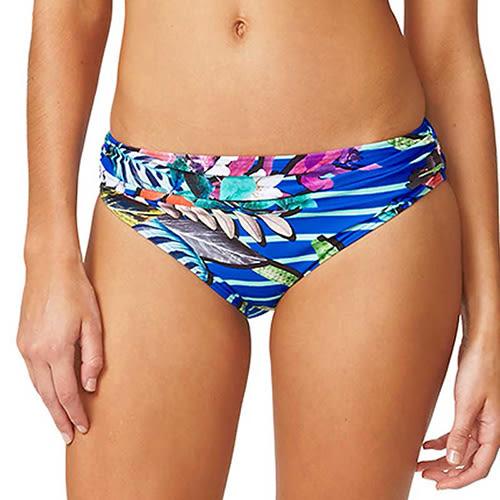 Moontide 知名進口泳裝品牌 RUCHED FRONT PANT 比基尼褲 - 女(海洋藍)