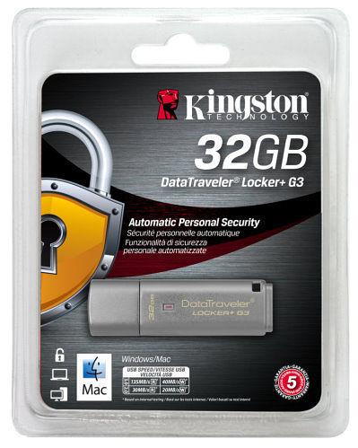 全新 金士頓 KINGSTON DTLPG3 Locker+ 32G鐵灰色 ( DTLPG3/32GB )