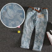*╮小衣衫S13╭*外貿優質純棉變形花春夏牛仔褲  1050425