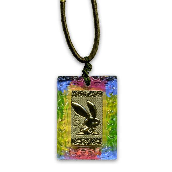 鹿港窯~居家開運金箔琉璃項鍊~十二生肖-兔 ◆附精美包裝