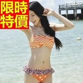 泳衣(兩件式)-比基尼-音樂祭海灘游泳必備泳裝撫媚新款2色54g166[時尚巴黎]