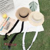 韓國編織草帽百搭遮陽沙灘帽潮女