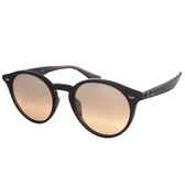 台灣原廠公司貨-【Ray-Ban雷朋】2180F-62313D-NEW!復古圓框太陽眼鏡(薄水銀粉鏡面-深褐框)