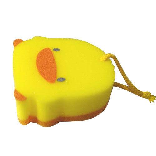 【奇買親子購物網】黃色小鴨造型雙層沐浴海棉