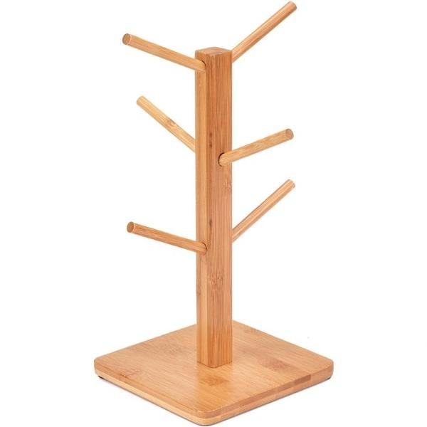 楠竹杯架實木瀝水杯架馬克杯掛架