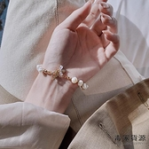 淡水珍珠手鏈精致小蜜蜂手鐲手飾設計手串女【毒家貨源】