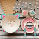 【Babycoccole 】elegant eco 竹製環保無毒兒童餐具六件組 – 豬豬