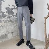西裝褲垂墜感西褲九分褲男修身百搭直筒寬鬆休閒褲子韓版潮流港風西裝褲 新北購物城