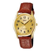 CASIO 卡西歐 手錶專賣店 MTP-1094Q-9B 簡約時尚指針男錶 皮革錶帶 琥珀金 生活防水