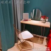 快速出貨 梳妝台 北歐實木小戶型臥室迷你簡約現代書桌網紅帶鏡子ins化妝桌` 【雙十一狂歡】