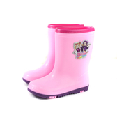 偶像學園 防水 雨靴 雨鞋 小女生鞋 桃紅色 中童 童鞋 ID8922 no817