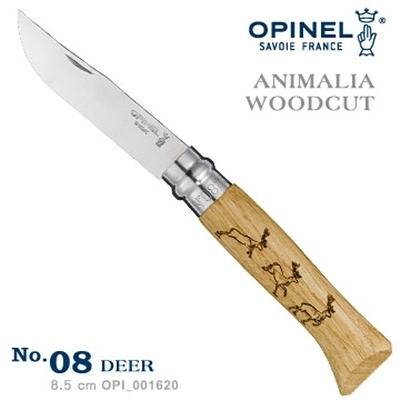 OPINEL ANIMALIA - WOODCUT 法國刀動物圖騰系列-鹿圖騰 No.08 #OPI_001620【AH53026】i-style居家生活