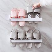 置物架 - 日式木塑板壁掛式鞋架墻上立體拖鞋架子浴室鞋子掛墻置物架【韓衣舍】