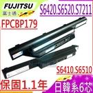 FUJITSU 電池(6芯)-富士 電池- S6410,S6420 S6510,S6520,FMVNBP160, FPCBP177,FPCBP179,FMVNBP159,FMVNBP159A